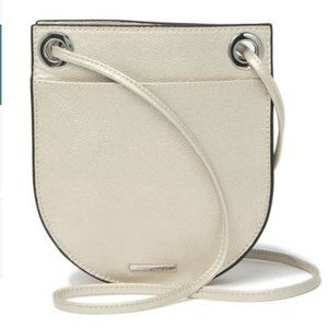 Vince Camuto Margi Small Leather Silver Crossbody